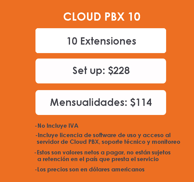 PACK 10 Cloud PBX