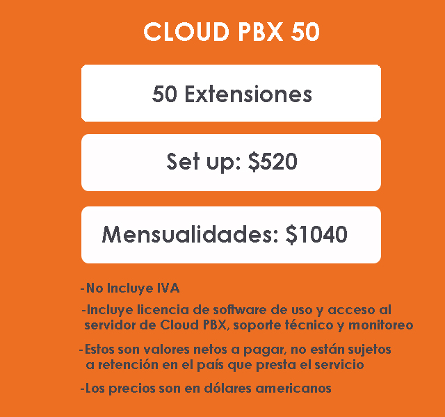 PACK 50 CLOUD PBX
